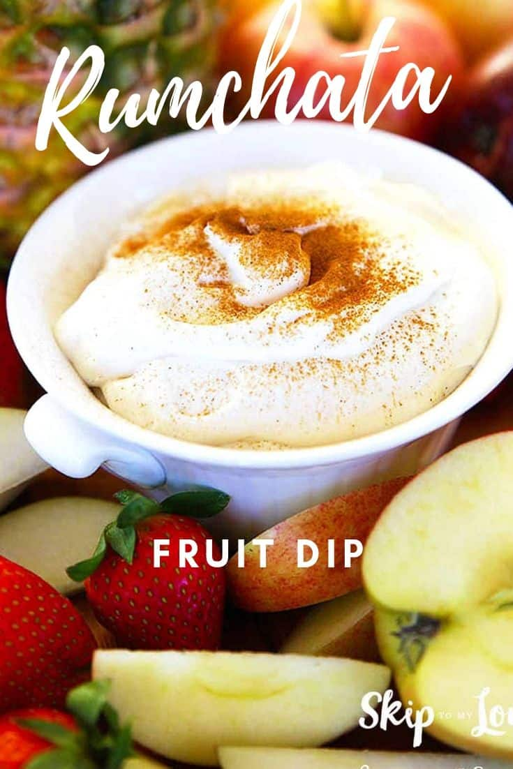 rumchata fruit dip