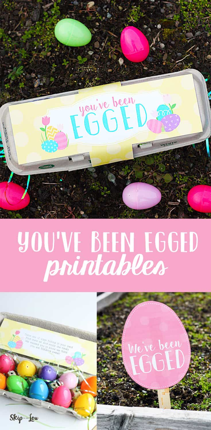 You've Been Egged Printables for Easter