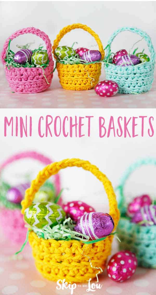 crochet baskets PIN