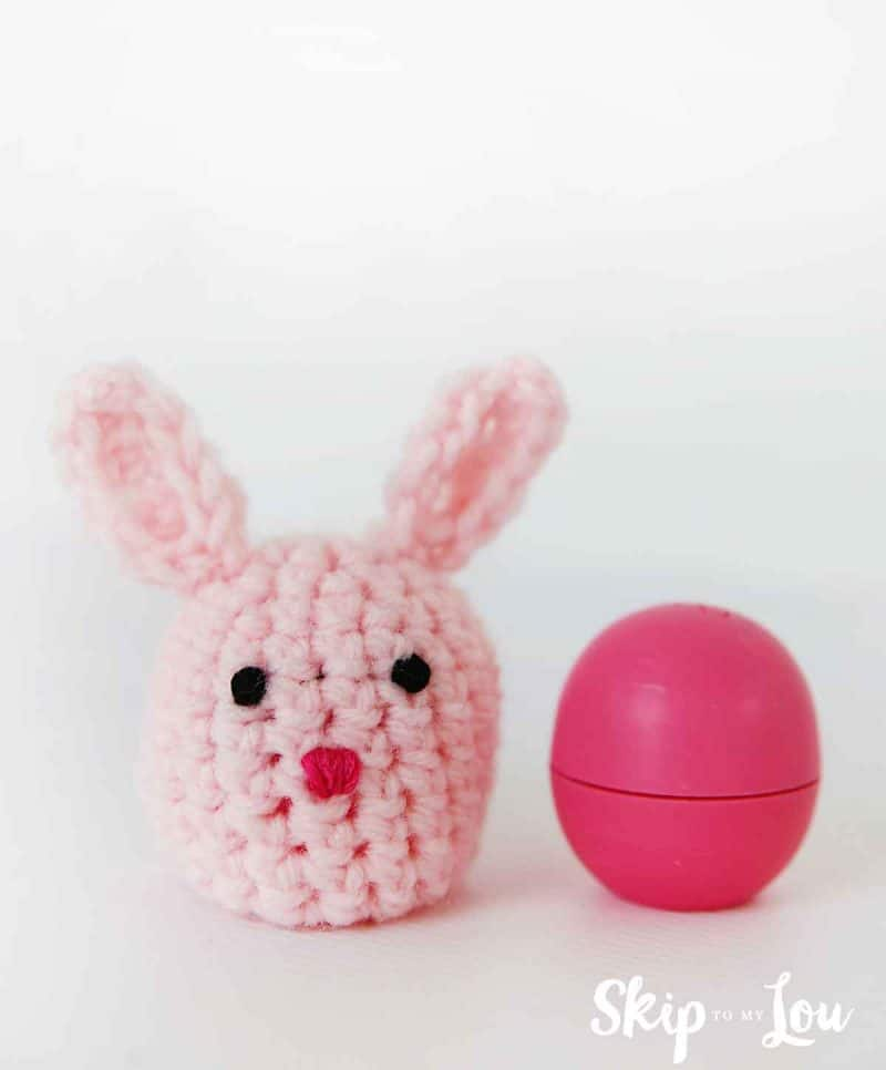 crochet bunny eos holder