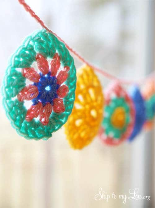 crochet egg garland pattern
