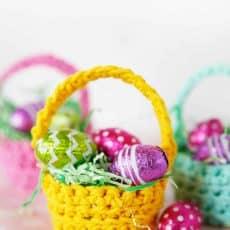 easy crochet pattern mini basket