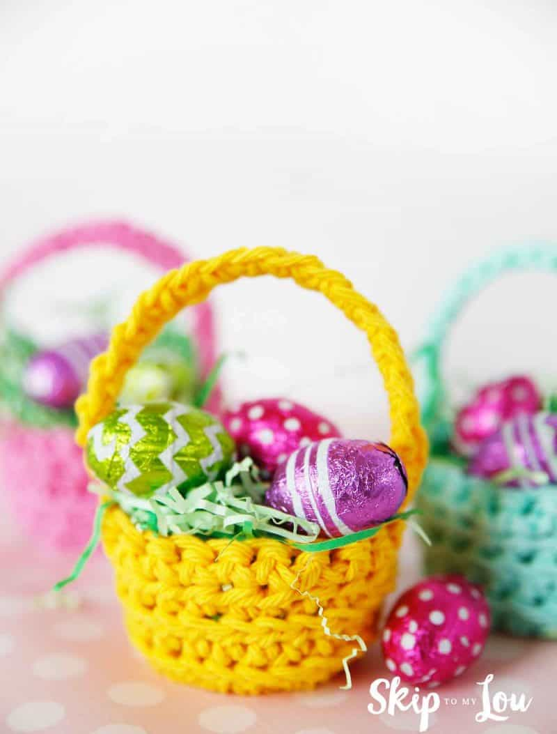 easy crochet pattern mini basket