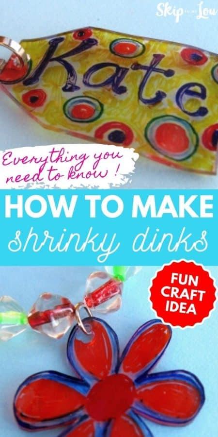 shrinky dinks craft PIN
