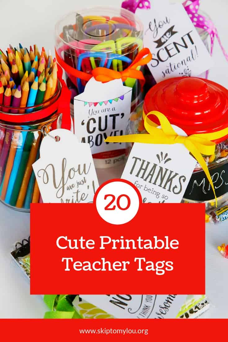 20 Teacher Tags Pinterest Graphic