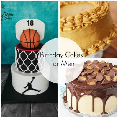 Admirable Birthday Cakes For Men Skip To My Lou Personalised Birthday Cards Veneteletsinfo
