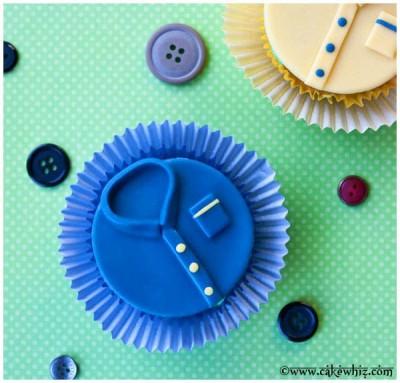 mens shirt cupcakes