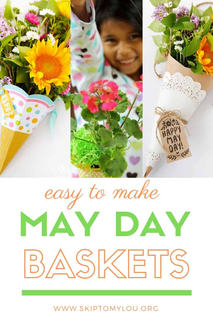May Day Baskets Pinterest Graphic