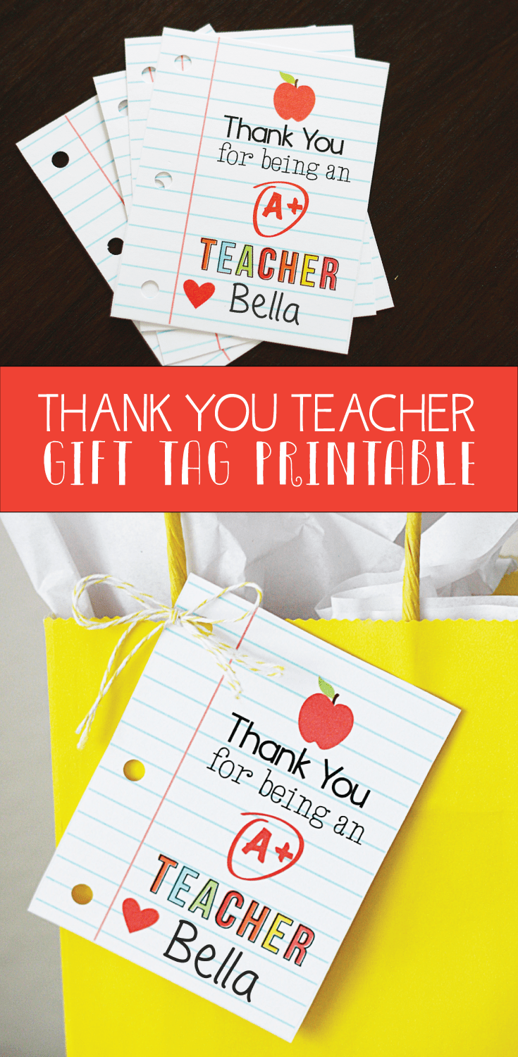 image regarding Thank You Gift Tags Printable named Thank Yourself Trainer Miss Toward My Lou
