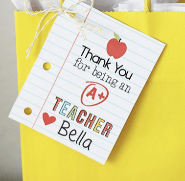 Thank You Teacher Gift Tags