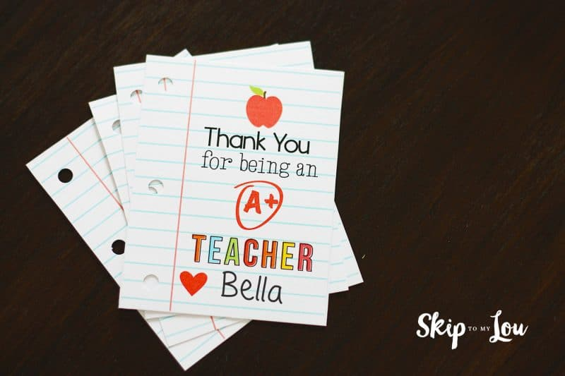free printable teacher gift tag