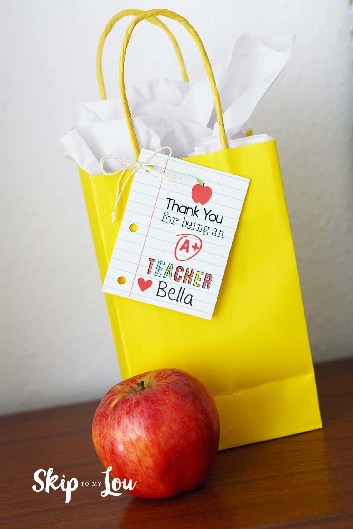 thank you teacher gift tag printable