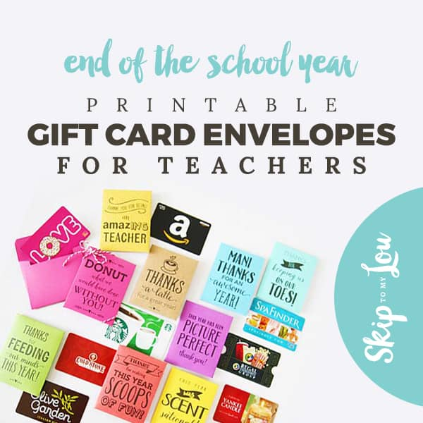teacher gift card holders