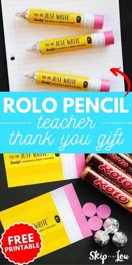 rolo pencil teacher gift PIN