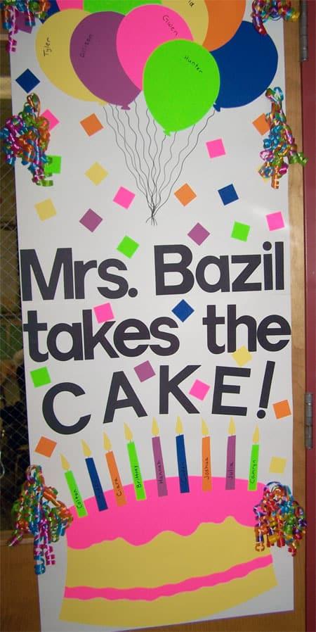 you take the cake door idea