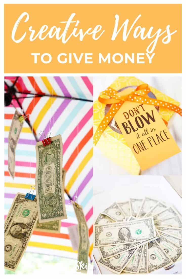 Creative Ways to give money Pinterest Graphics