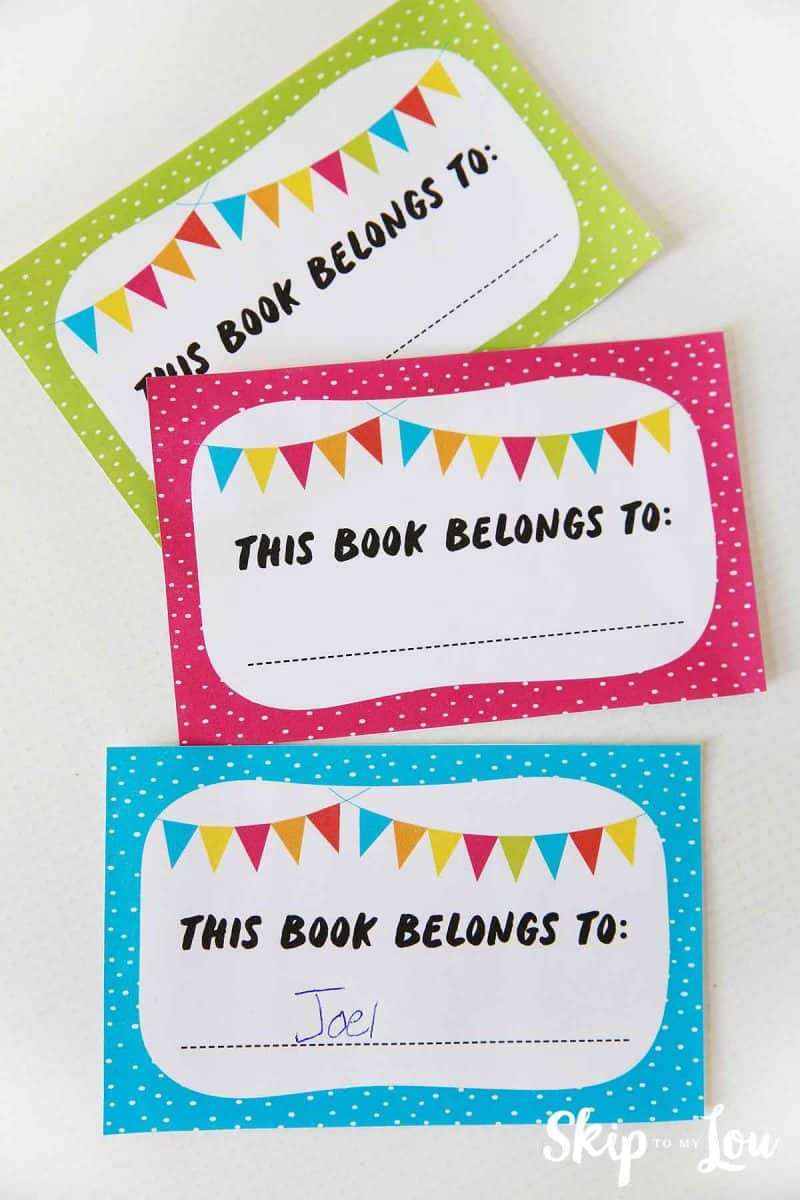 sticker bookplates