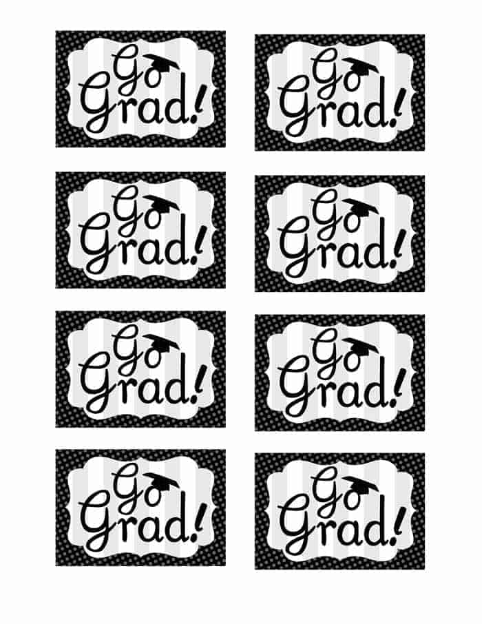 printable go grad tags