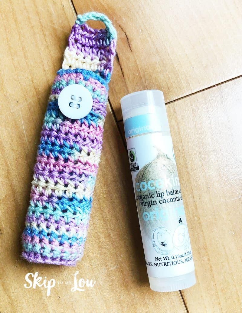 crochet lip balm holder pattern