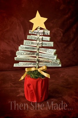 cash Christmas tree