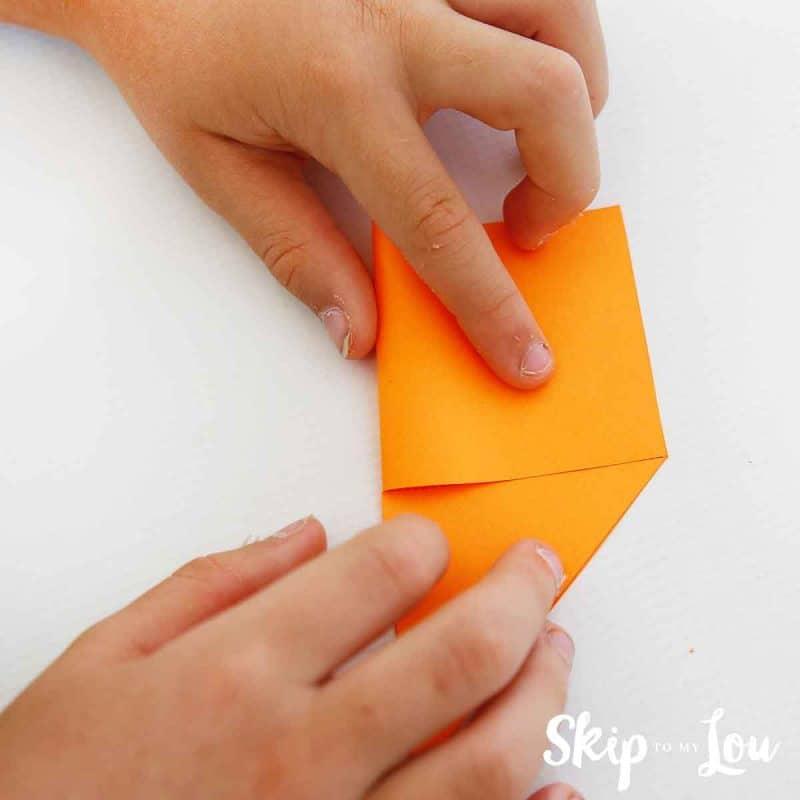 step 1 corner bookmark
