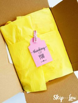 get well gift care package in box