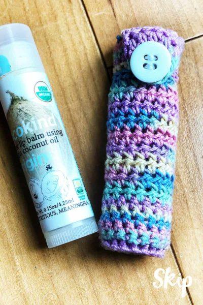 crochet chapstick holder