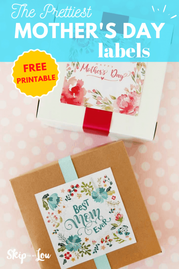 pretty mothers day labels PIN