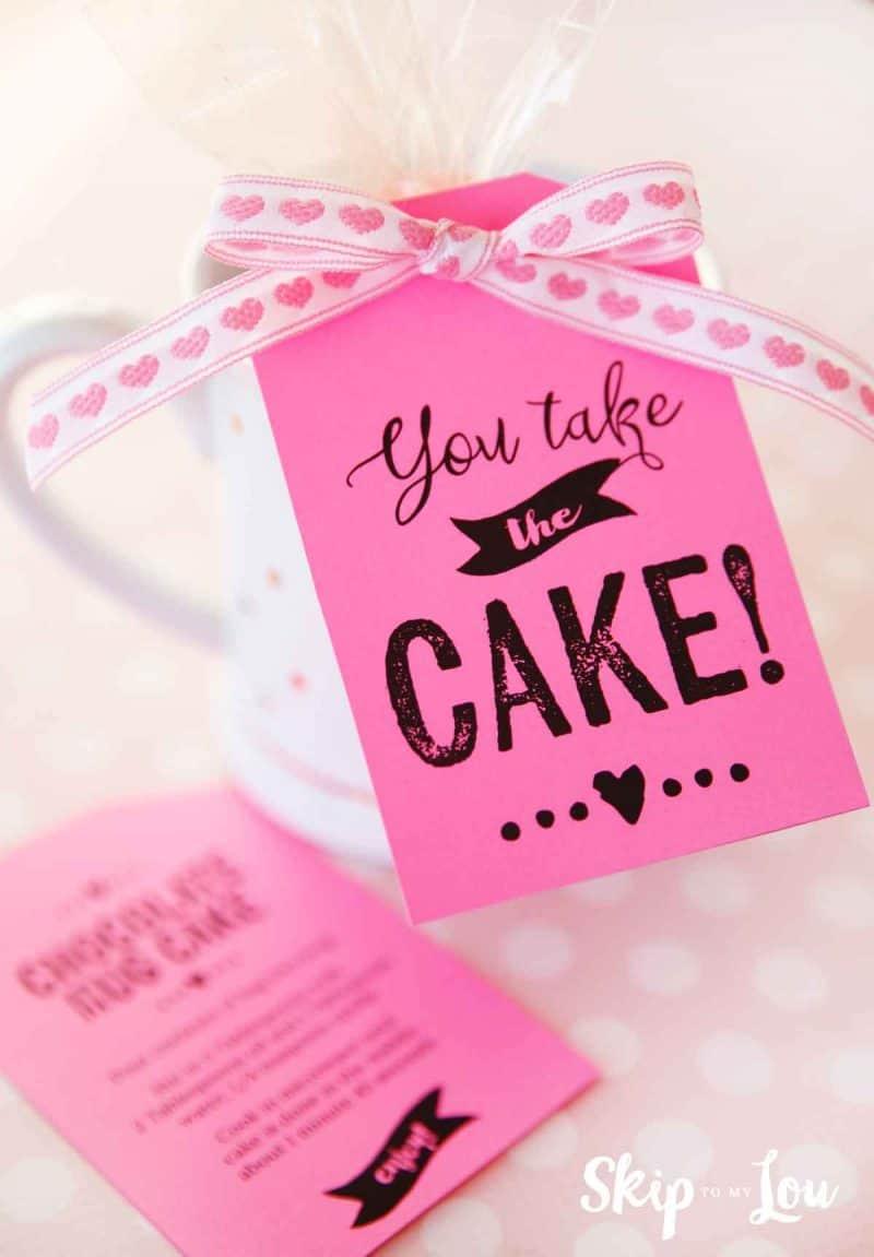 chocolate mug cake gift
