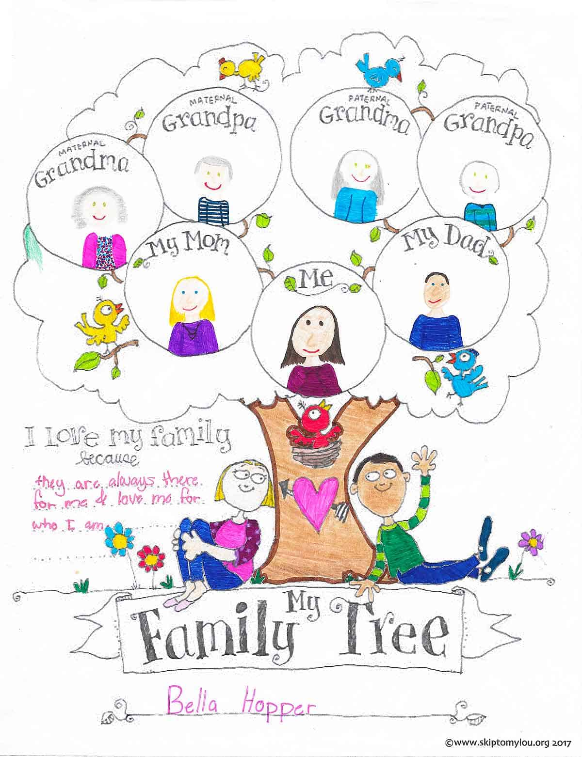 Free Printable Happy Family Coloring Pages For Kids | 1562x1200