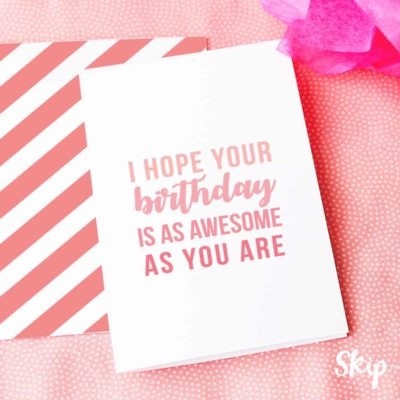 you are awesome birthday card