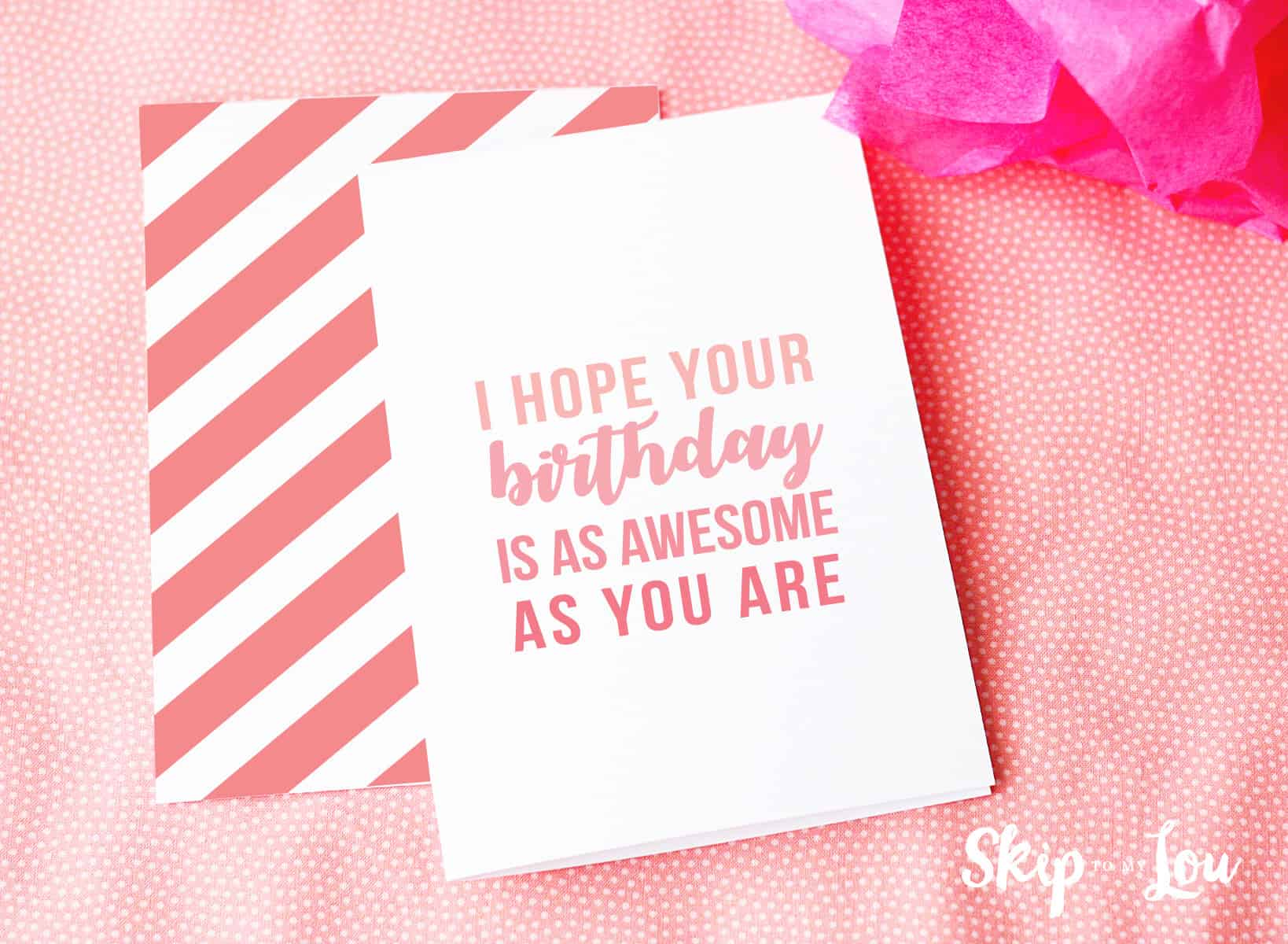 graphic about Free Printable Birthday Cards for Adults called No cost Printable Birthday Playing cards Overlook In direction of My Lou