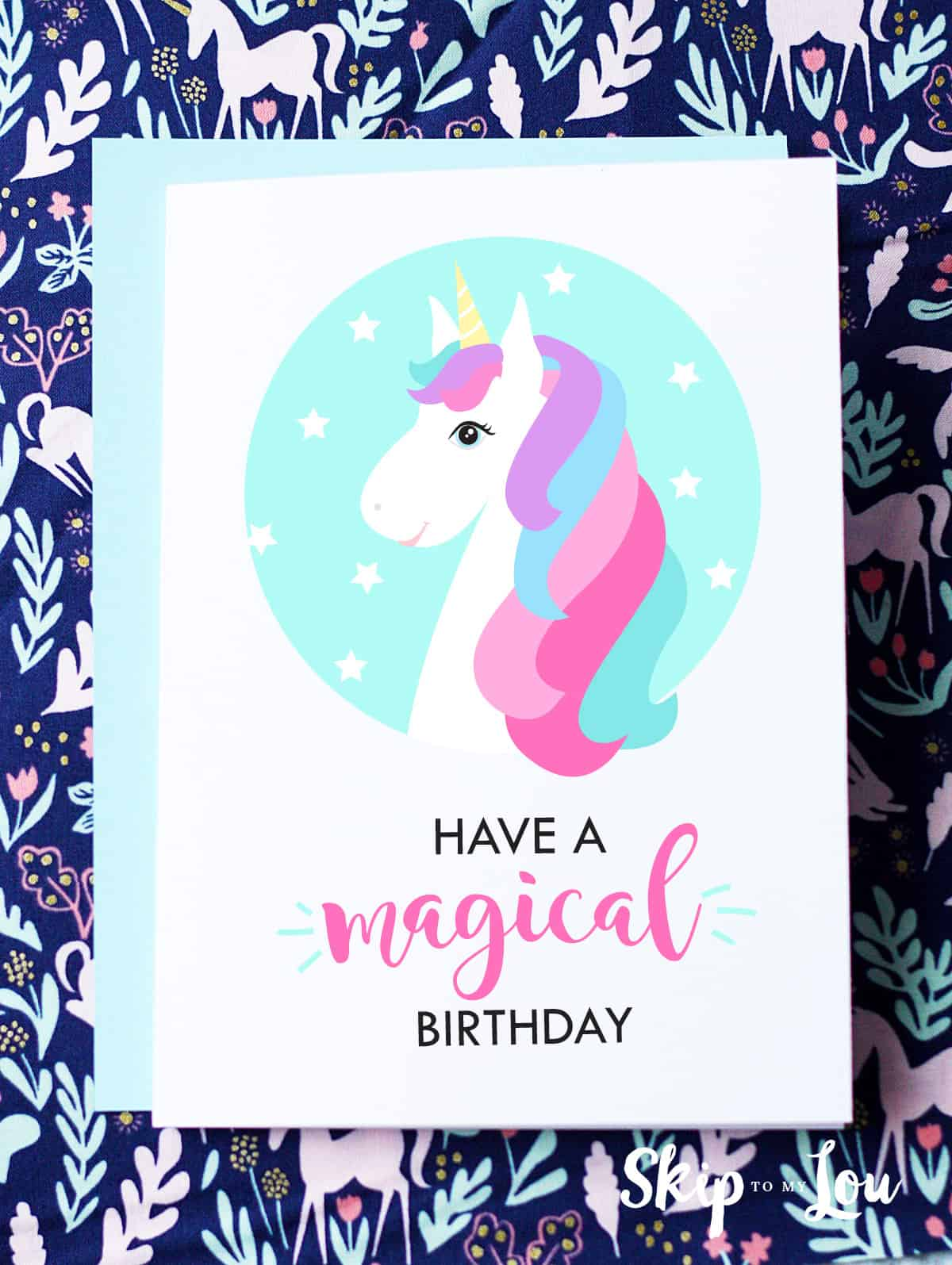 picture about Printable Children's Birthday Cards identified as Cost-free Printable Birthday Playing cards Miss In the direction of My Lou