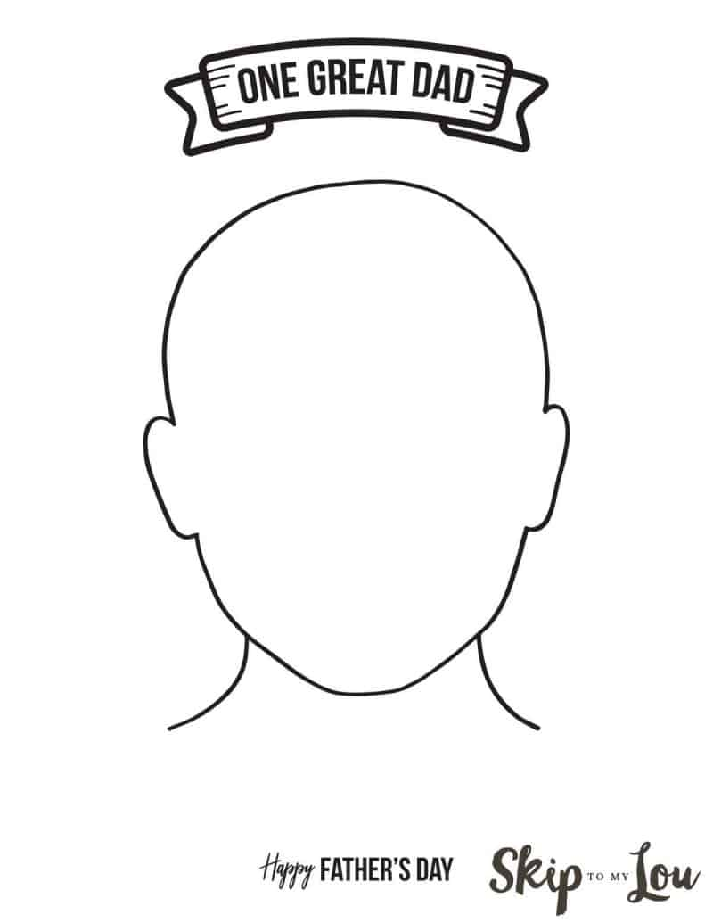 dad portrait template coloring page