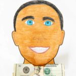 dad portrait money gift