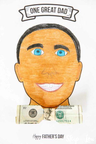 dad portrait money gift