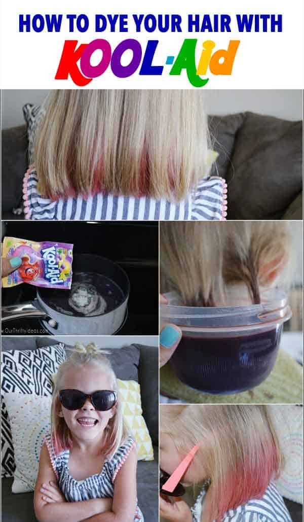 how to dye your hair with kool aid tutorial