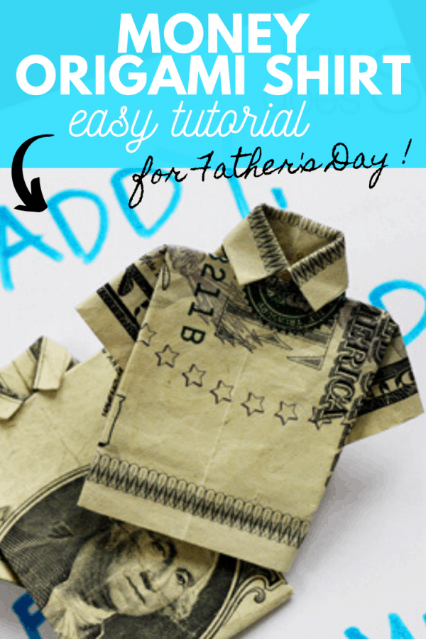 money origami shirt tutorial PIN
