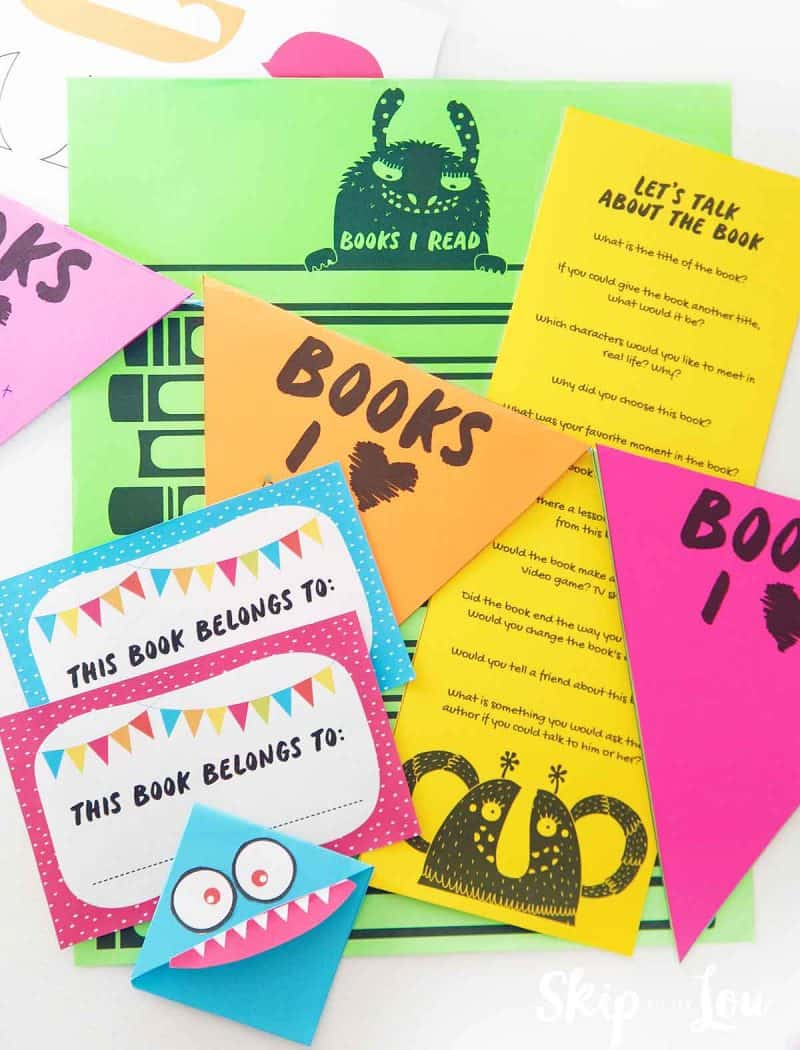 Kids Book Club Printables