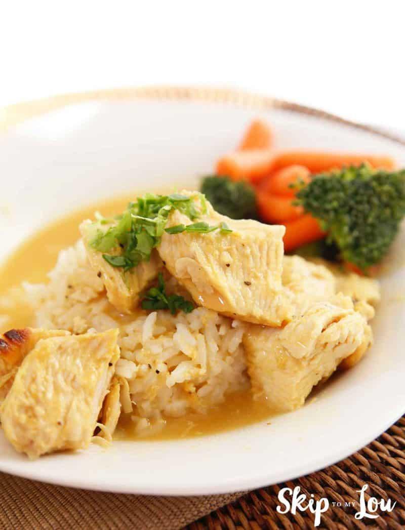 instant pot honey mustard chicken dinner