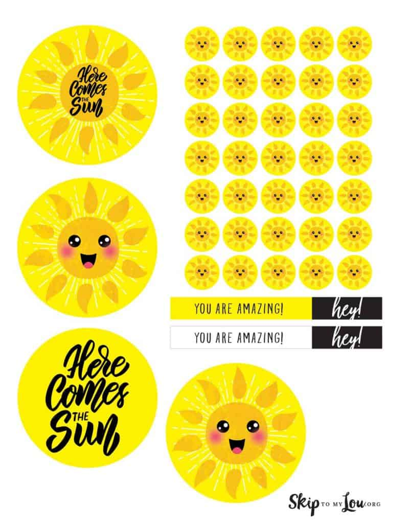 box of sunshine printable