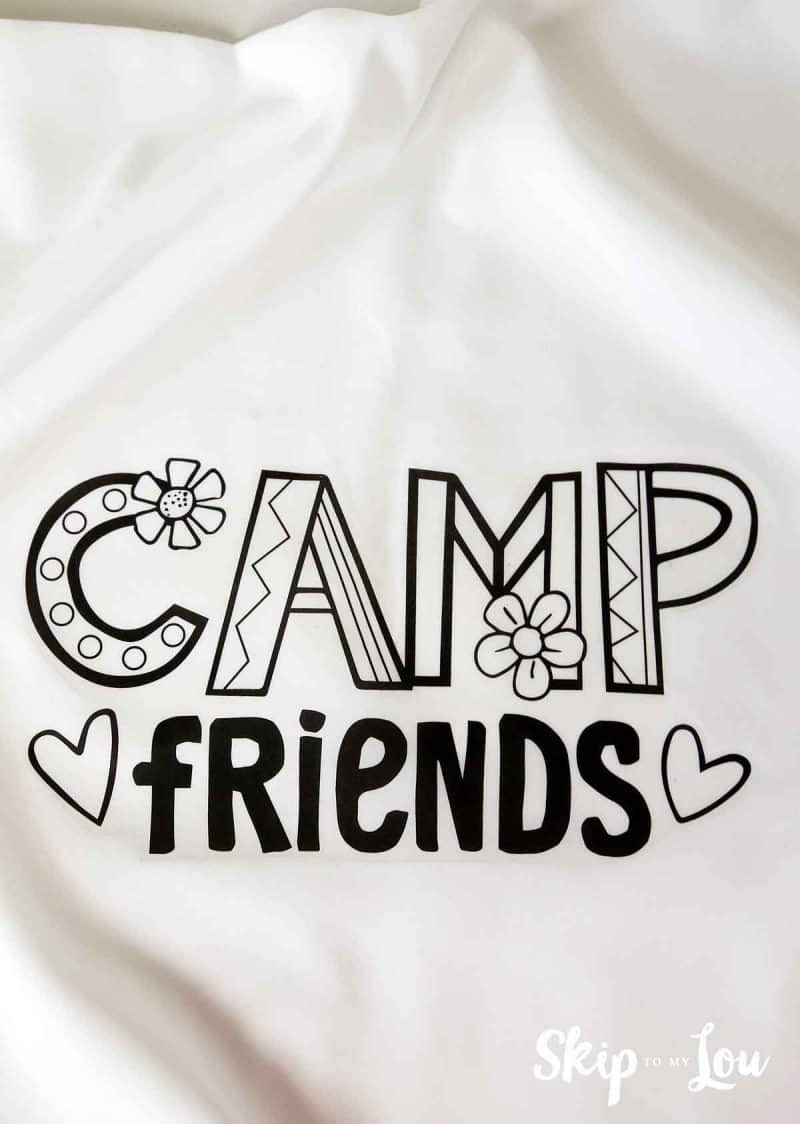 iron on camp friends printable