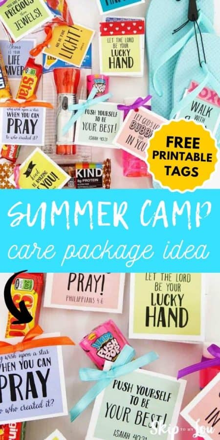 care package idea summer camp PIN