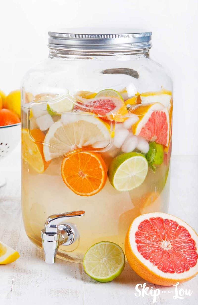 detox water in large jar