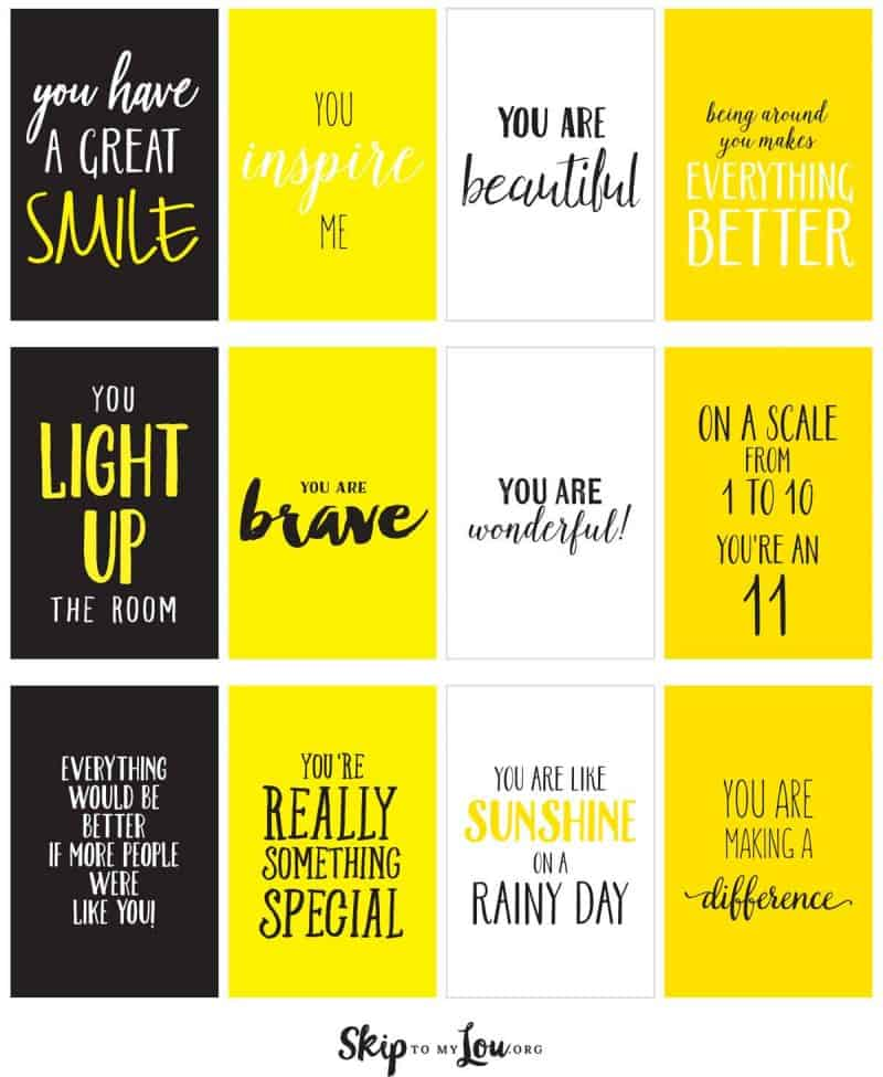 printable compliment cards