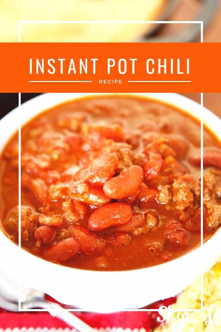 Easy chili recipe made right in the pressure cooker! #instantpot #pressurecooker #recipe