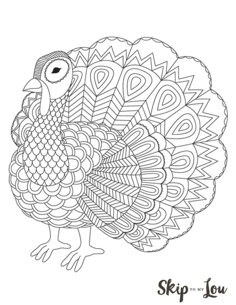 graphic relating to Printable Turkey known as The CUTEST Cost-free Turkey Coloring Internet pages Miss out on Toward My Lou