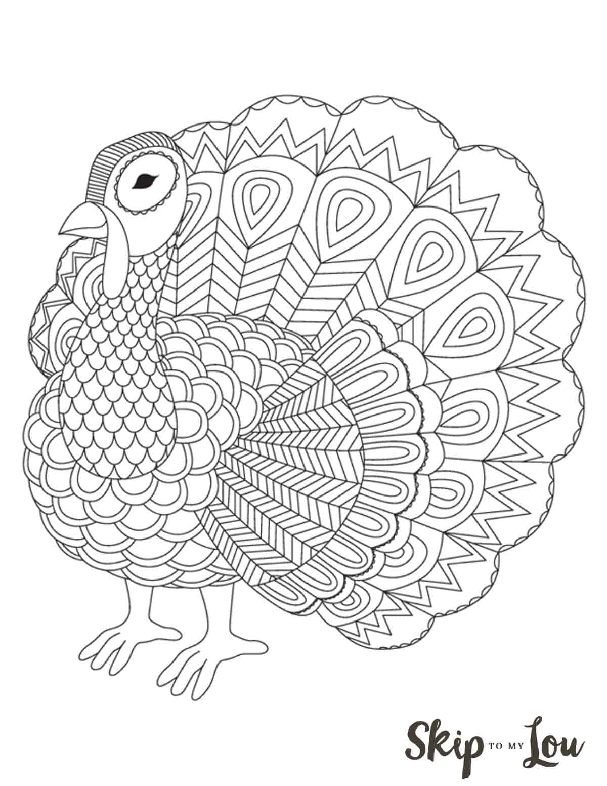 It is a photo of Breathtaking Turkey to Color Free Printable