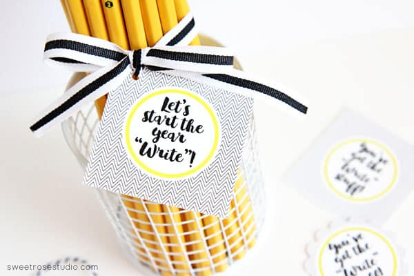 first day of school pencil gift start write