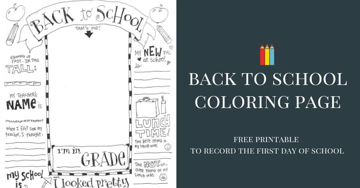 - First Day Of School Coloring Pages (UPDATED WITH VIRTUAL OPTION) Skip To  My Lou